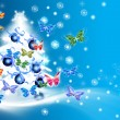 Christmas tree card — Stockfoto