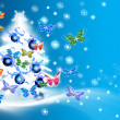 Stockfoto: Christmas tree card