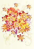用鲜花的抽象和漂亮的设计 — 图库照片