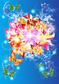 Abstract and shiny flowers bouquet — Stock Photo
