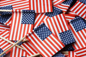 American Flag Toothpicks — 图库照片