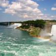 NiagarFalls, Americand CanadiFalls, Maid of Mist — Stock Photo #8180235