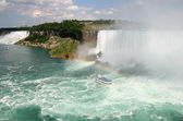 Niagara Falls, American and Canadian Falls, Maid of the Mist — Stock Photo