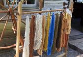 纺出的纱 — 图库照片