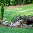 Bridge in a Garden — Stock Photo