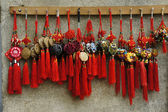 Hanging traditional Chinese mascots — Stock Photo
