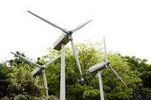 Wiatr moc maszyny elektryczne. — Zdjęcie stockowe