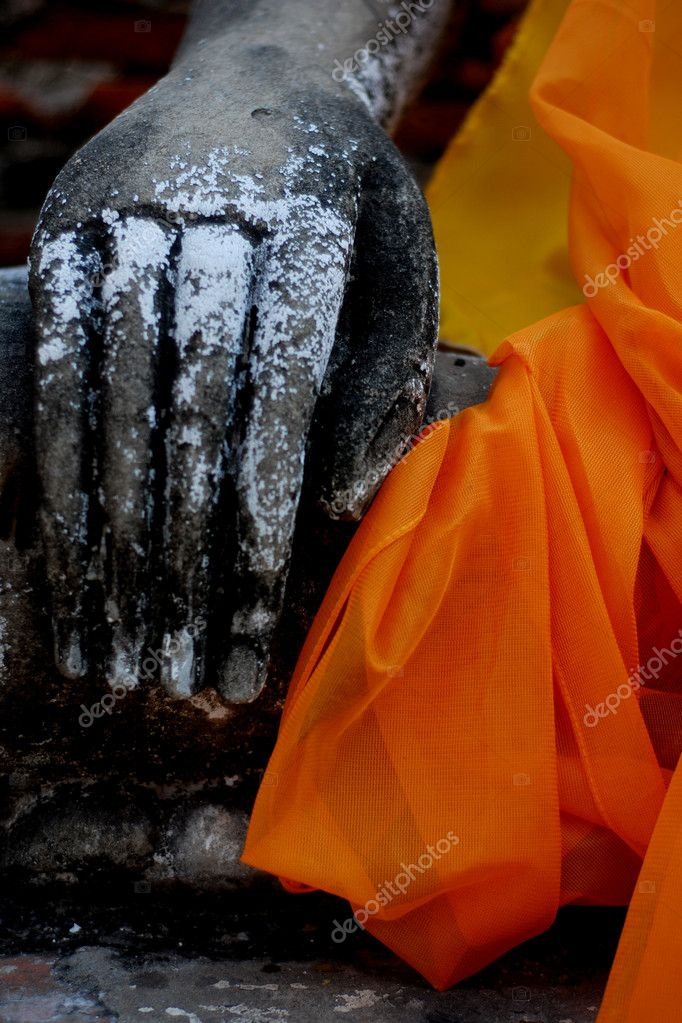 Statue of Buddha Hand in Ayuthtya Province, Thailand  Stock Photo #8090119