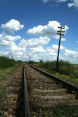 Railway in Romania — Stock Photo
