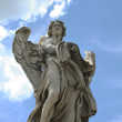 Angel on Sant'Angelo bridge — Stock Photo