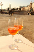 Two glases of Venetian drink — Stock Photo