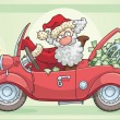 Stock Vector: SantClaus and Money