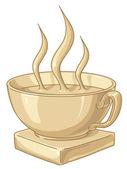 Golden Coffee Cup — Stock Vector