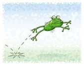 Jumping Frog — Stock Vector