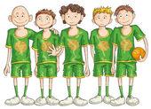 Basketball Team — Stock Vector