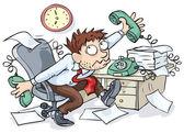 Office Worker — Stock Vector