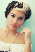 Maquillage de la jeune femme — Photo