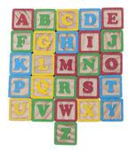 Alphabet de cubes de wooned — Photo
