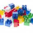 Plastic constructor bricks — Stock Photo