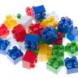 Plastic constructor bricks — Stock Photo #10498785