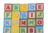 Wooned cubes alphabet — Stockfoto