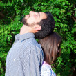 Couple in park — Stock Photo #10624167