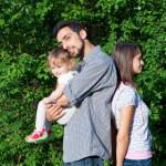 família infeliz — Foto Stock