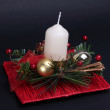 Christmas candlestick — Stock Photo