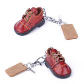 Shoe keychain — Stock Photo
