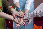 Indian women hands — Stock Photo