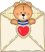 Bear Inside Envelope — Vector de stock