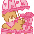 Baby Basket Girl - Stock Vector