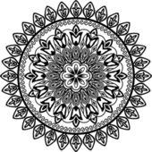 Geometric floral circle — Vetor de Stock