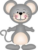 Gray mouse — Stock Vector