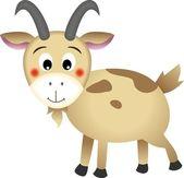 可爱的山羊 — 图库矢量图片