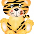 Playful Tiger - Stock Vector