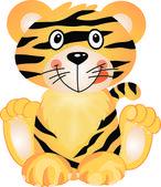 Tigre juguetón — Vector de stock