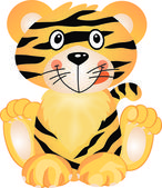 Figlarny tygrys — Wektor stockowy