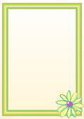 Flower Border Frame — Stock Vector