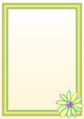 Marco flores frontera — Vector de stock
