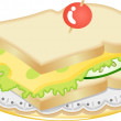 cheese sandwich — Stock Vector