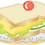 Cheese sandwich — Stock Vector #8273603