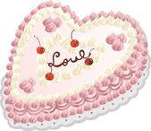 Love Cake — Stock Vector