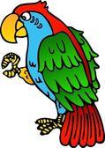 Parrot yellow beak — Stock Vector