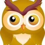 Halloween Owl — Stock Vector