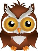 Nocturnal Owl — Stock Vector