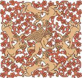 陶瓷墙地砖的天使 — 图库矢量图片