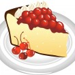 Stock Vector: Slice of Cheesecake