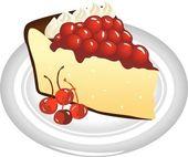 Rebanada de pastel de queso — Vector de stock