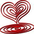 Stock Vector: Heart Spiral